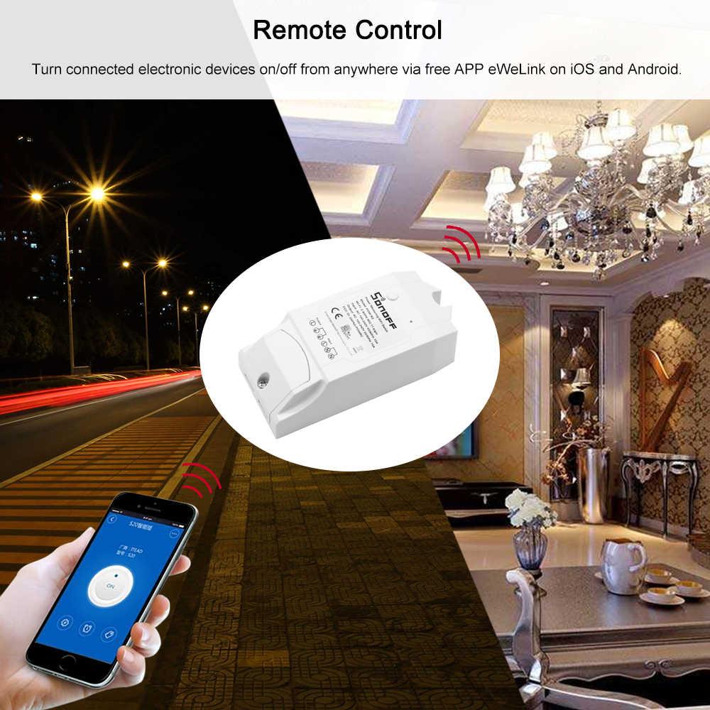 Sonoff Pow R2 ITEAD interruptor inteligente inalámbrico hogar WiFi interruptor de Control de voz aplicación de Control remoto compatible con Alexa/ google