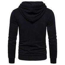 Mens New Autumn/ Winter Running Hooded Sweatshirt Thick Fleece With Zipper