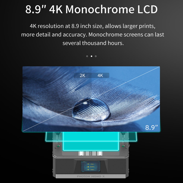 ANYCUBIC Photon Mono X 3D Printer 8.9 inch 4K Monochrome LCD UV Resin Printers 3D Printing High Speed APP Control SLA 3D Printer 2