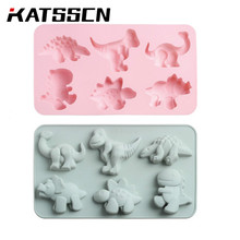 Cartoon Cake Baking Mold  Silicone 6 Girds Dinosaur Lovely Shape Rice Tool in KATSSCN