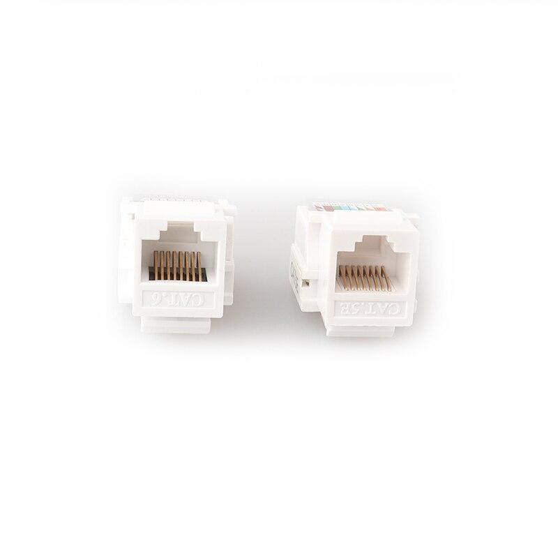 Ethernet RJ45 Cat5E Computer Keystone Jack White-FREE SHIP! Qty 75