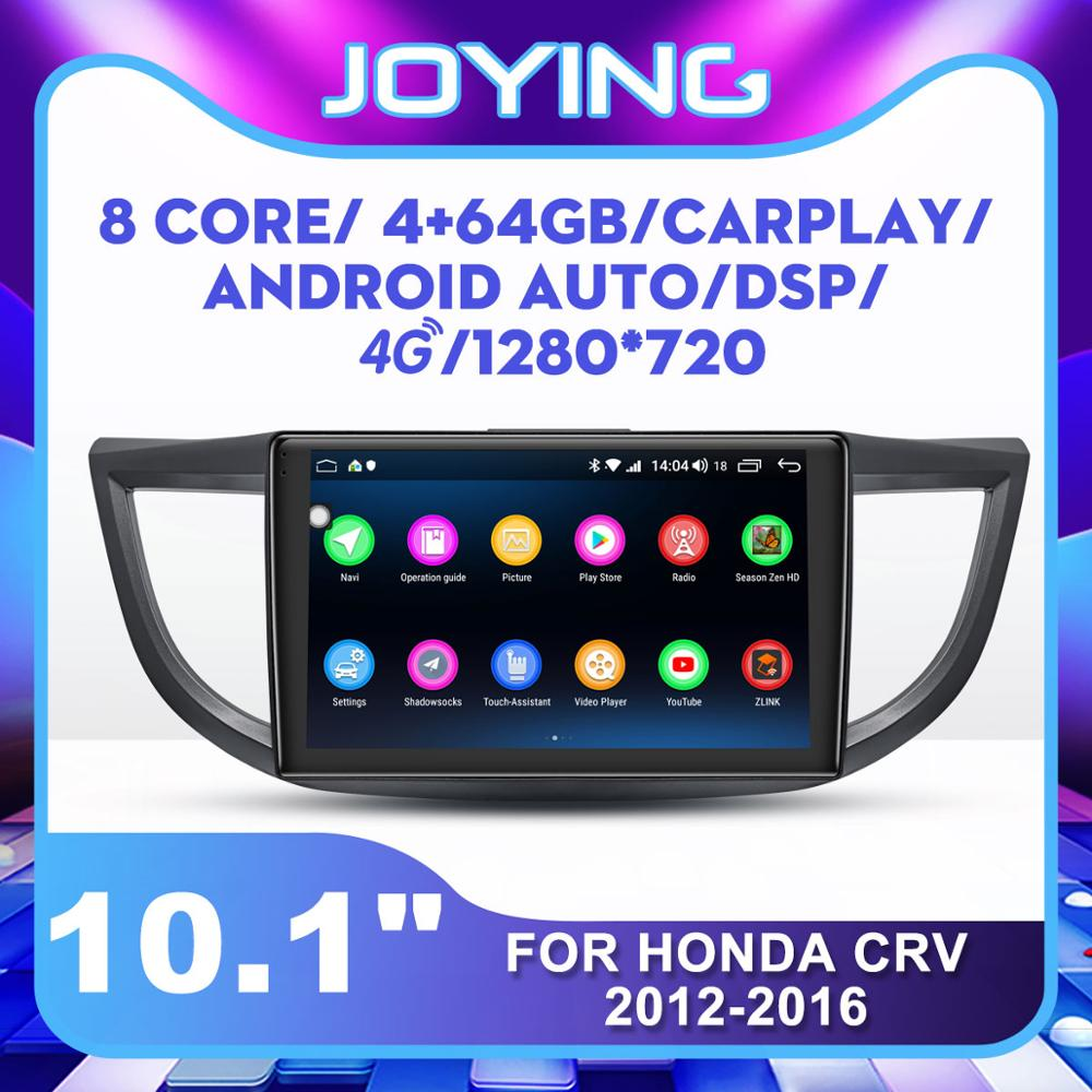 Joying 1 Din Android Car Autoradio for Honda CRV 2012-2016 10.1 Car GPS Navigation Stereo Player Wifi Bluetooth USB Audio DSP image