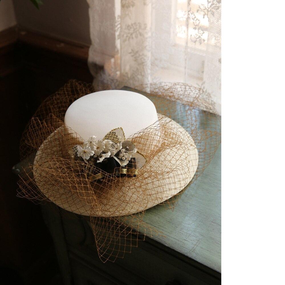 Mingli Tengda fleur Grace coiffure pour future mariée chapeau formel gaze mariage chapeaux et fascinateurs accessoires cage à oiseaux Sombreros Vintage