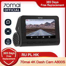 Car DVR Dash-Cam Parking 70mai A800 ADAS UHD Cinema-Quality 140FOV 4k Camera Sony Imx415