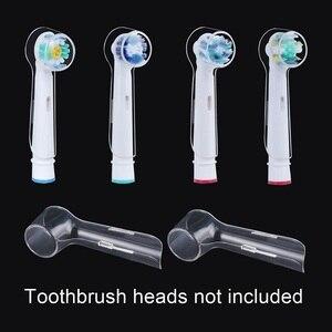 Image 2 - 4ชิ้น/ล็อตไฟฟ้าหัวแปรงสีฟันสำหรับOral B BraunหัวแปรงฟันTravelกันฝุ่นทำความสะอาดโปร่งใส