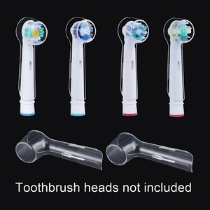 Image 2 - 4pcs/lot Electric Toothbrush Heads Protective Cover For Oral B Braun Tooth Brush Heads Travel Dustproof Keep Clean Transparent