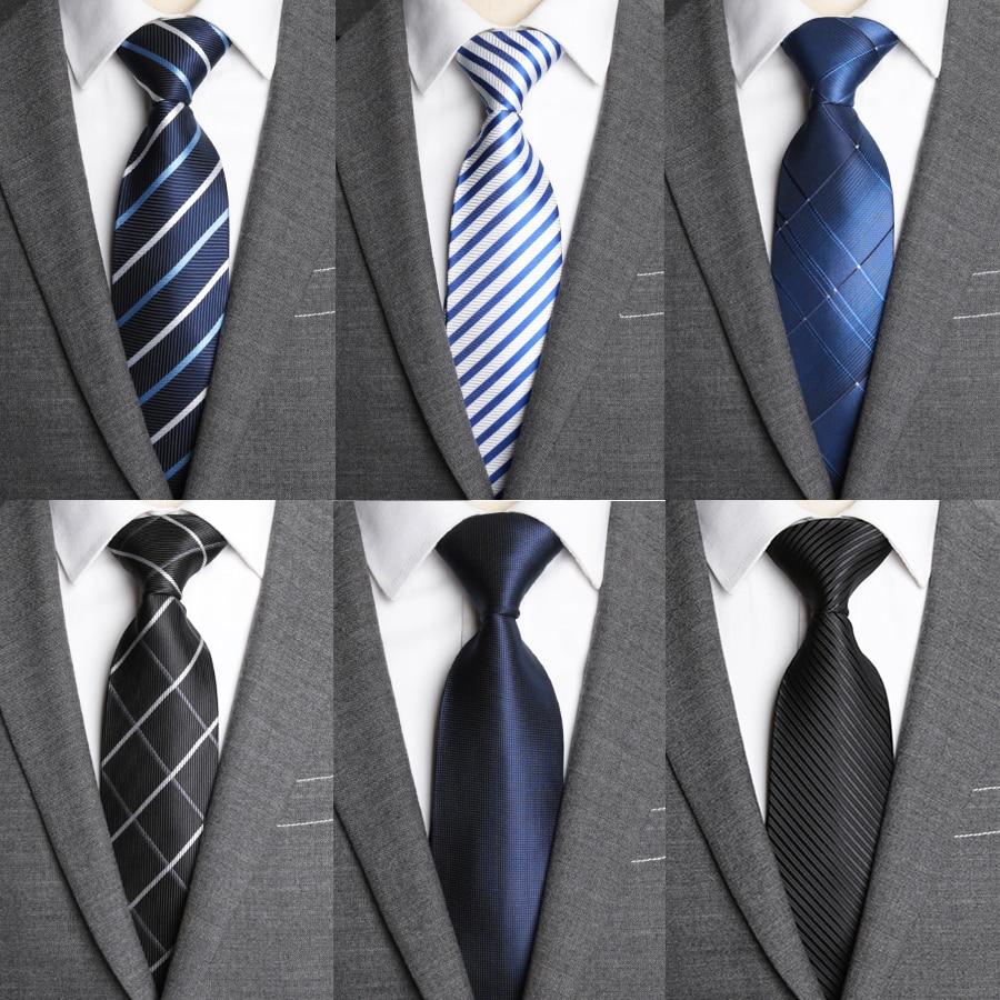 Ties Men Classic Business Formal Business Wedding Dress Tie Mens Gifts Stripe Grid Fashion Shirt Dress Accessories 8cm Necktie