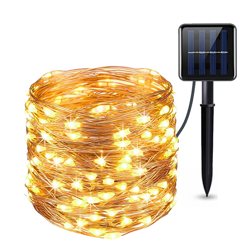 Rantion Solar String Lights LED Outdoor Lamp 50/100/200 LEDs Fairy Holiday Christmas Party Garland Solar Garden Waterproof Light