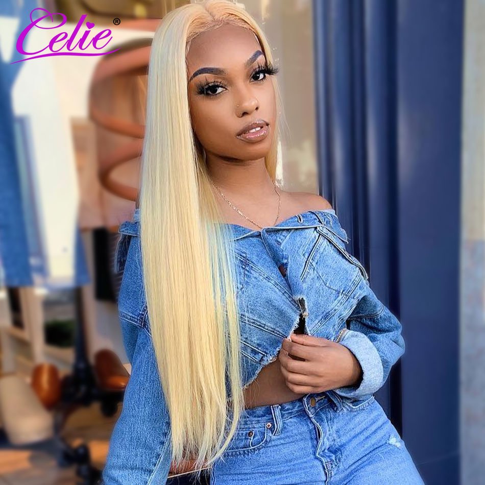 Perruque Lace Frontal Wig 613 naturelle lisse Celie, perruque Lace Front Wig, cheveux humains, HD, 4x4, 13x4 13x6, Blonde 613