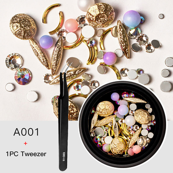 3D Nail Rhinestones Set Crystal Stone Nail Decoration Colorful Beads Metal Nail Accessories DIY Decors Tips Nail Art image