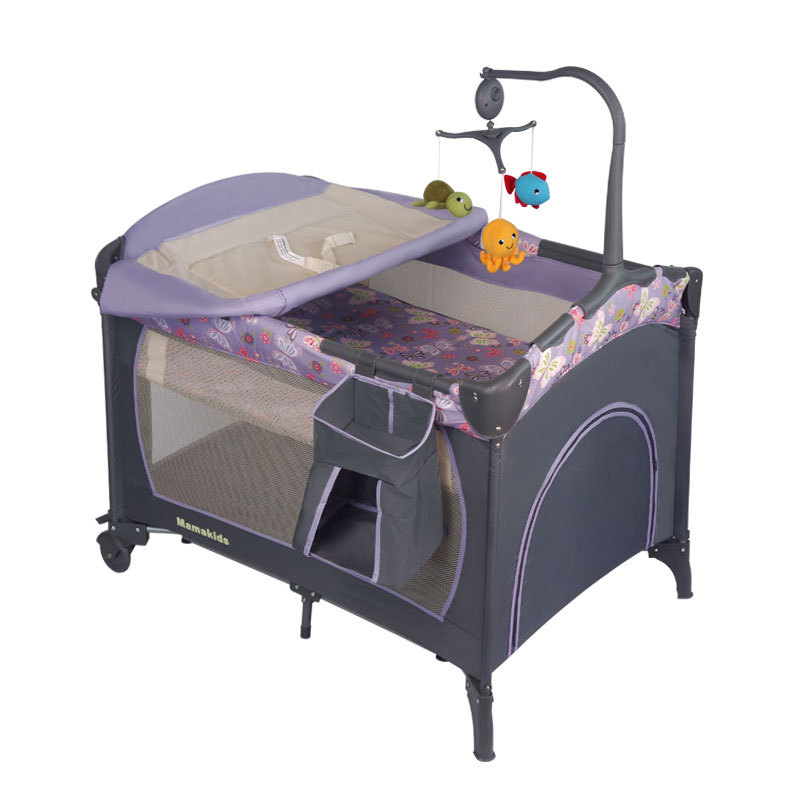 Mamakids Portable Folding Game Bed Multi-functional Baby Bed Travel Bed Shaker To Strengthen Wholesale