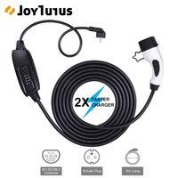 6 m nível 2 ev carregador plug cabo portátil evse 16a schuko conector universal iec 62196-2 tipo 2 carro elétrico cabo de carregamento