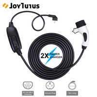 6M niveau 2 EV câble de prise de chargeur Portable EVSE 16A Schuko connecteur universel IEC 62196-2 Type 2 câble de charge de voiture électrique