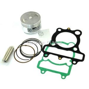 Image 2 - 70mm Standard Bore Motorcycle Piston Kits Ring Pin Clips & Cylinder Gasket Set For Yamaha XT225 XT 225 Serow