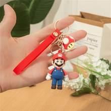 Recuerdo de la infancia llavero de Mario lindo alegría de juego bolsa de llavero colgante accesorios dije con llavero regalos de La Fortuna