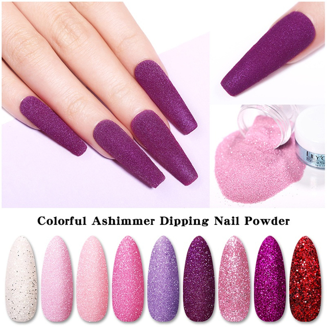 LILYCUTE 5ml Matte Solid Color Dipping Nail Powder