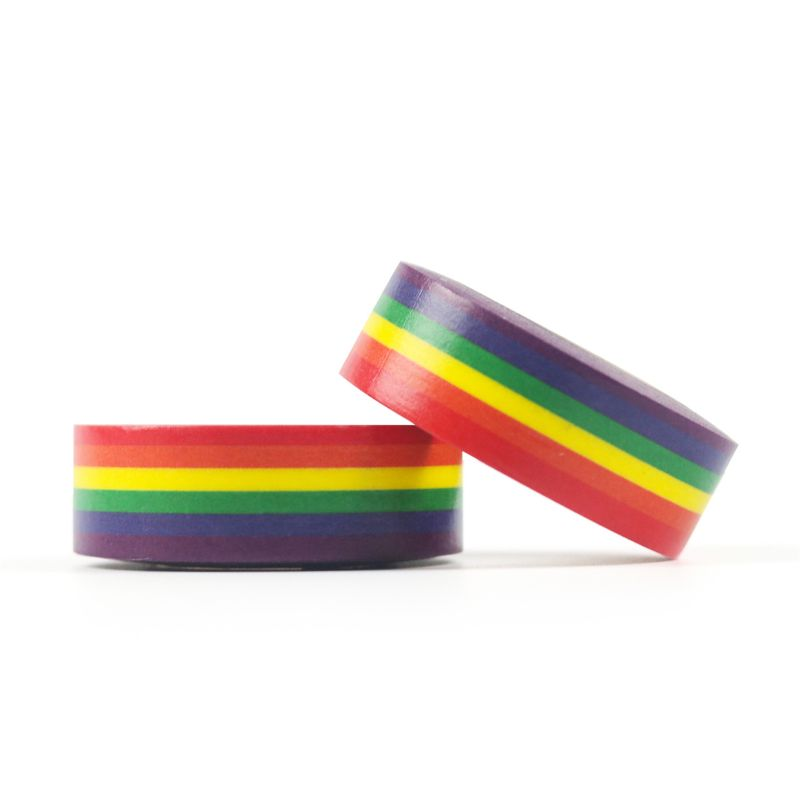 1PC Rainbow Washi Tape School Supplies Stationery Tape Office Stationery 15mm PXPA