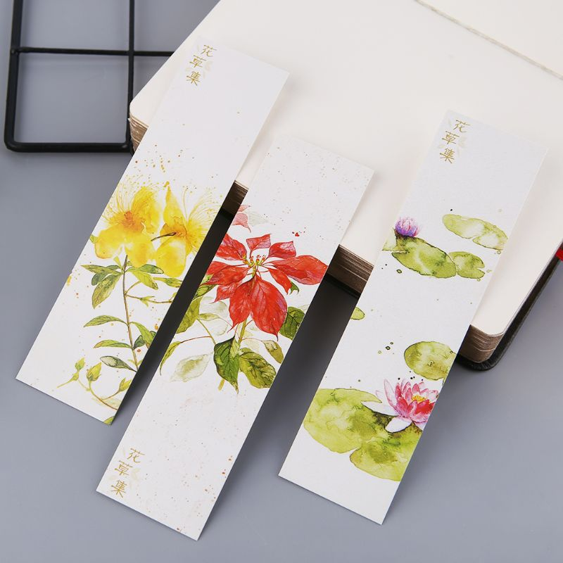 30pcs Creative Chinese Style Paper Bookmarks Painting Cards  Retro Beautiful Boxed Bookmark Commemorative Gifts LX9A