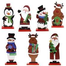Новинка 2020 г Деревянный Санта Клаус рождественские подарки
