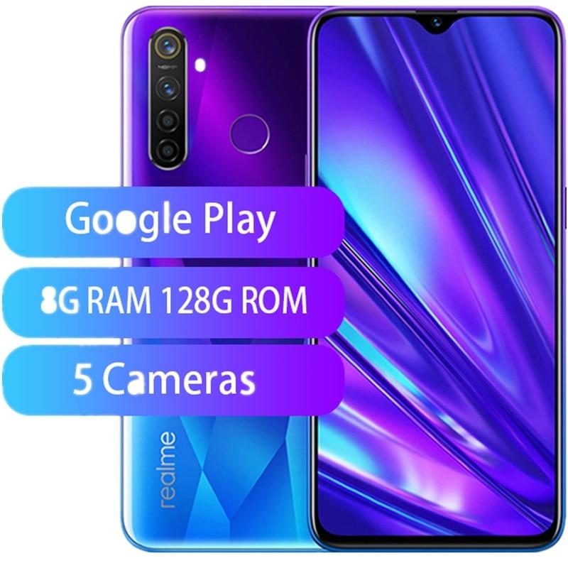 "Lager Neue Original Realme Q Smart Telefon 6.3 ""Full Screen Snapdragon 712 6G RAM 128G ROM 48,0 MP 5 Kameras Fingerprint"