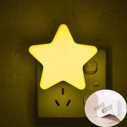 Control de Sensor de luz Mini estrella LED Luz de noche para Noche Oscura niños lámpara de noche para dormitorio con enchufe de EU/US iluminación para el dormitorio del bebé
