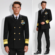 Men Luxurious Admiral Uniform Sets Mens Fashion