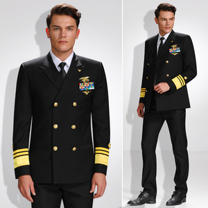 Men Luxurious Admiral Uniform