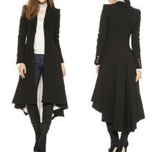 Women Fashion Long Sleeve Wool Blend Blazer Evening Party Tr