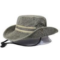 Sombrero Boonie de algodón para hombre y mujer, gorra de cubo de ala ancha para pesca, senderismo, exteriores, Safari, Verano