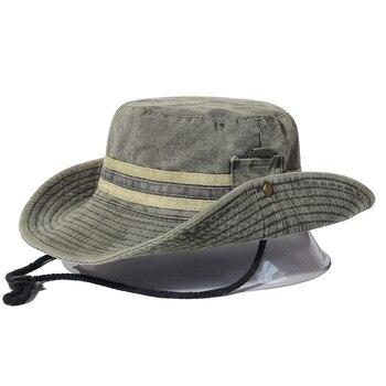 Fishing Hiking Sun Hat Men Women Boonie Hat Wide Brim Bucket Hat Outdoor Safari Summer Cap Cotton Bucket Hat панама bucket hat cotton l синяя