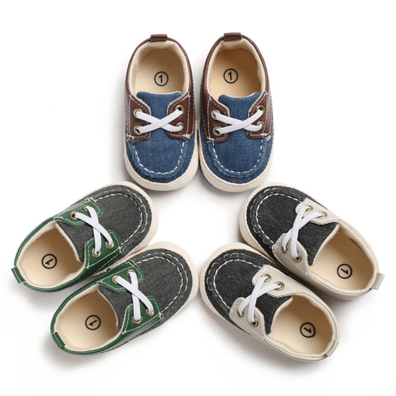 Newborn Baby Boy Shoes First Walkers Spring Autumn Baby Boy Soft Sole Shoes Infant Canvas 0-18 Months