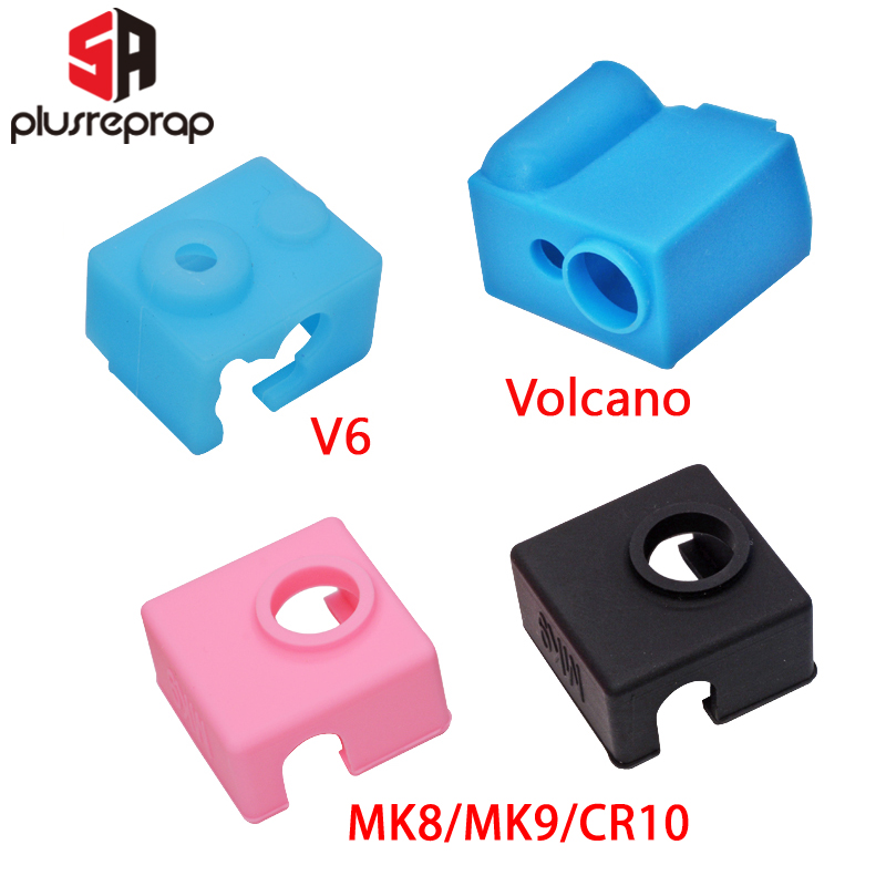 3D Printer Parts Silicone Sock For V6 Volcano MK8/MK9/CR10/CR10S Heated Block Warm Keeping Cover