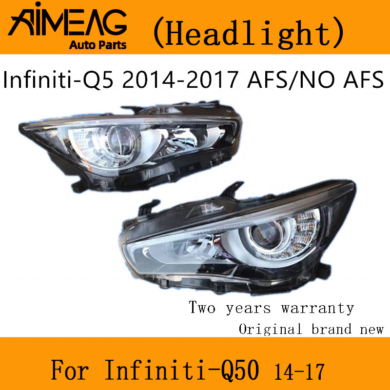 Made For  Infiniti 2014 -- 2017 Q50 Headlamp Assembly With High LED Belt Steering Without Belt Headlight