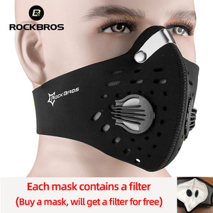 Image 1 - ROCKBROS Cycling Face Mask Dust Mask Bike Active Carbon With Filter Mask Breathing Valve Anti Pollution Protective Sports Mask