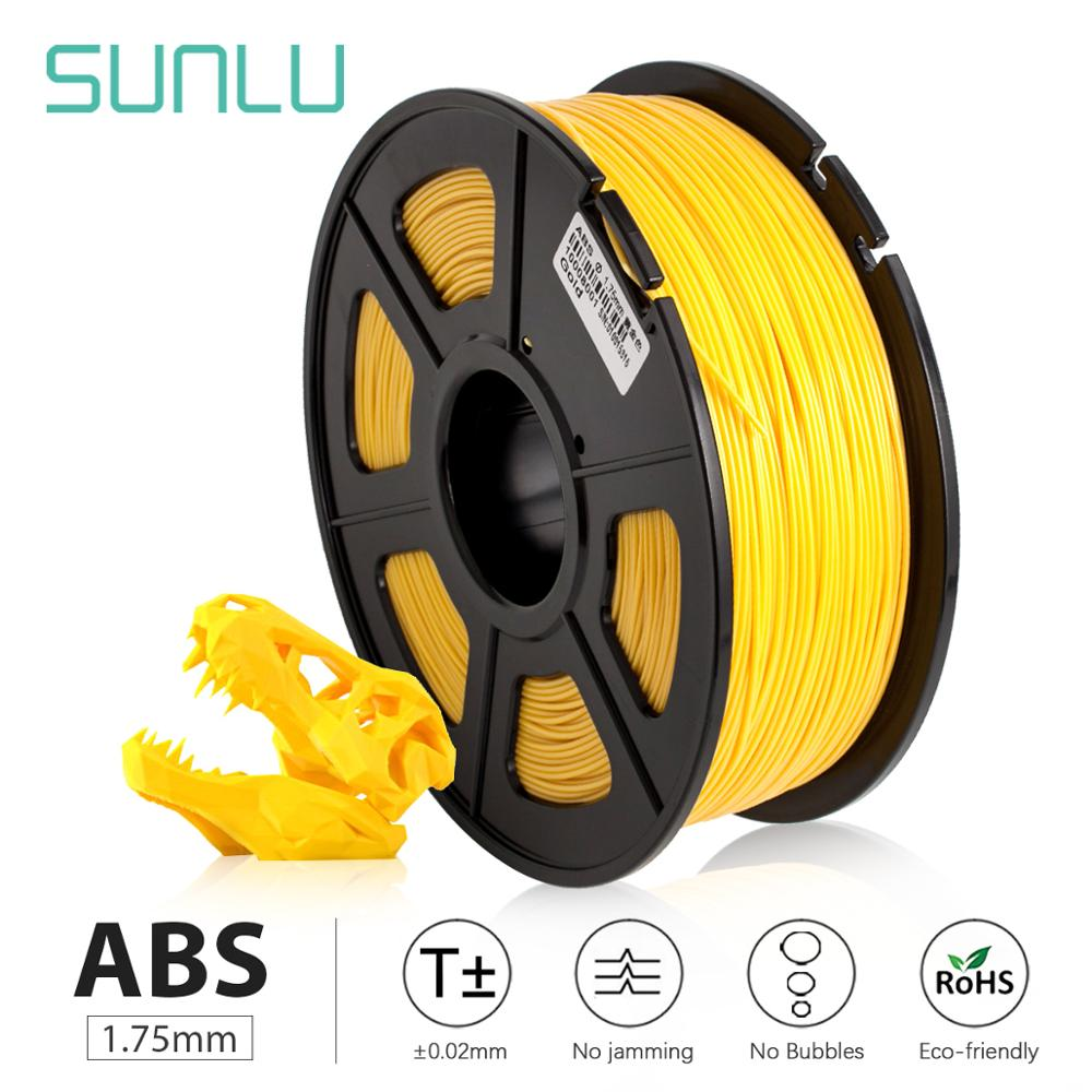 SUNLU <font><b>3D</b></font> Printer Filament <font><b>ABS</b></font> <font><b>1.75</b></font> mm <font><b>3D</b></font> Printing filament for <font><b>3D</b></font> Printers and <font><b>3D</b></font> Pens Low Odor Dimensional Accuracy +/- 0.02 mm image