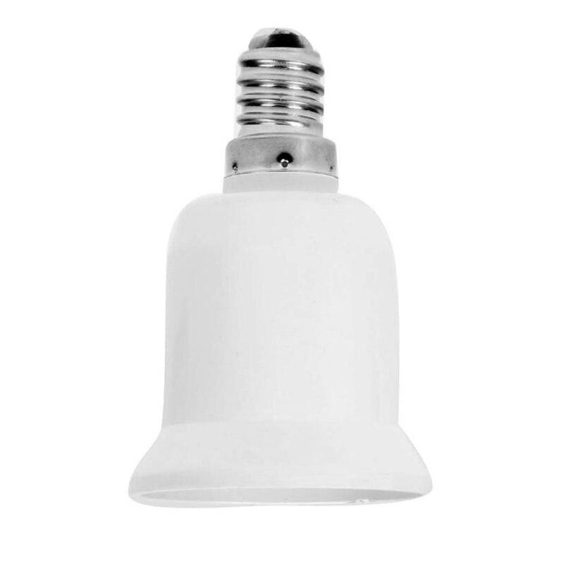 1pces White E14 To E27 Bulbs Adapter Converter Material Fireproof Socket Adapter Lamp Holder