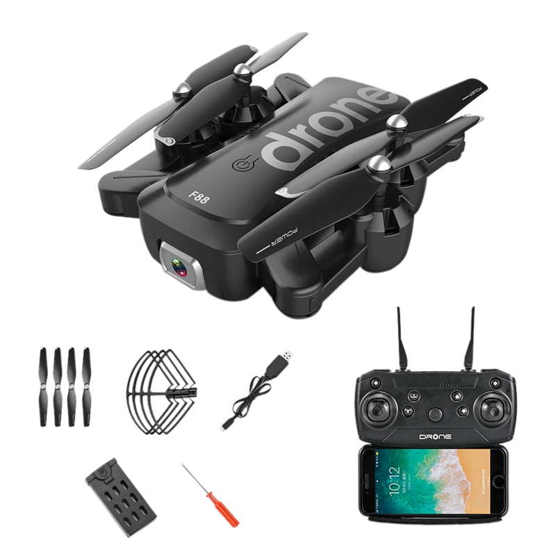 F88 Drone RC Quadcopter Foldable Portable WiFi Drones with HD Wide-Angle Live Video Camera Altitude Hold Mode Drone Toys