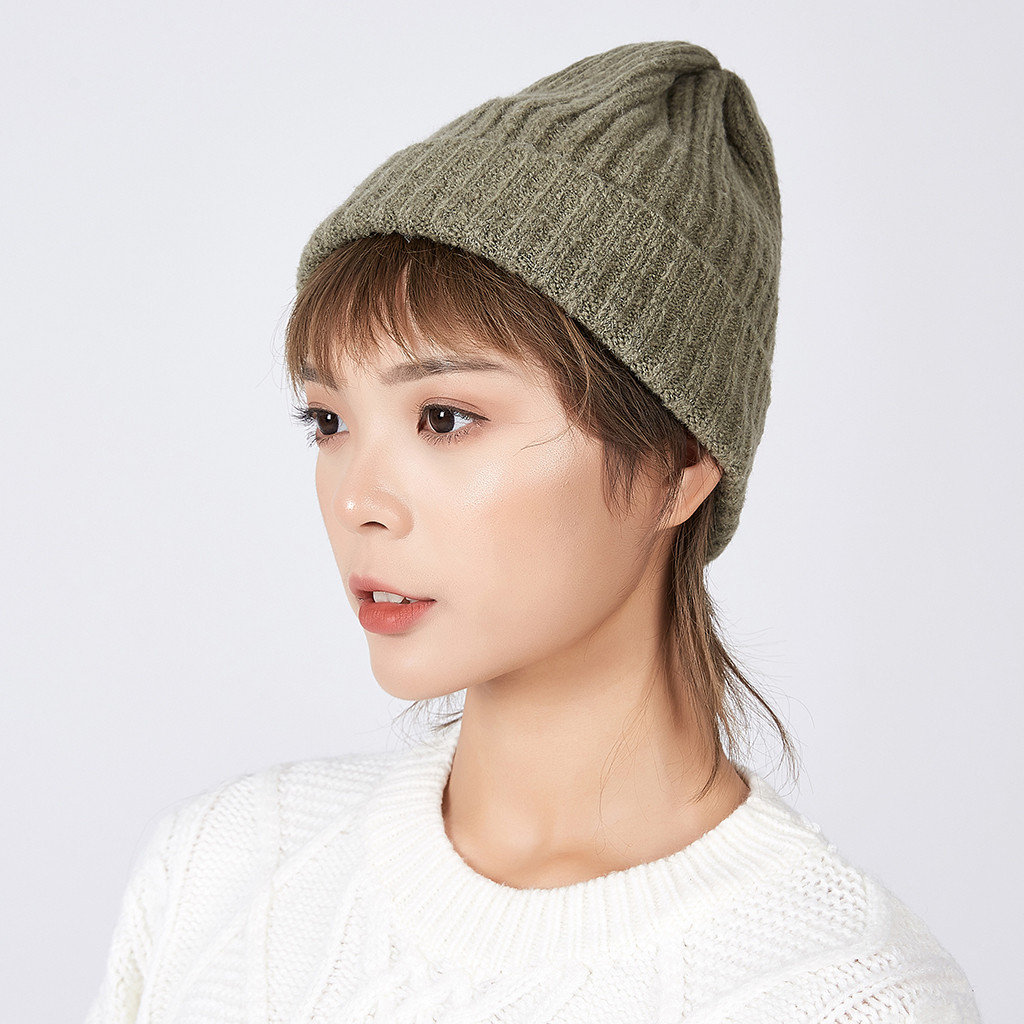Fashion Women's Winter Collar Plus Thick Knit Warm Hat 2019 Hot Selling Support Wholesale Dropshipping High Capacity 2019