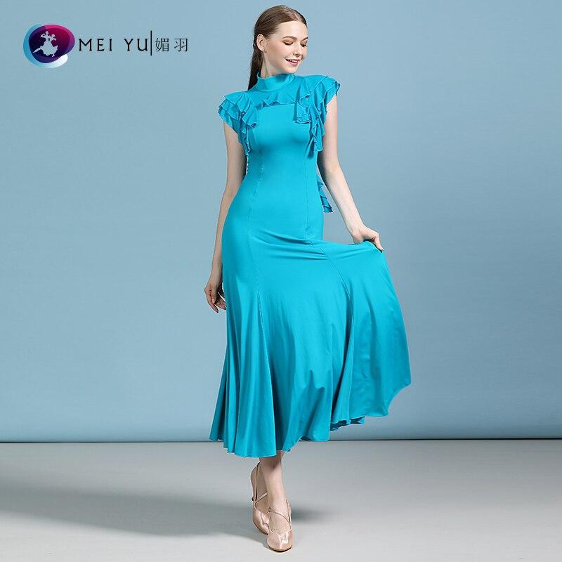 New Ballroom Dance Dress Dance Ballroom Waltz Dresses Practise Dancing Full-skirted Dress MY812
