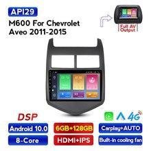 MEKEDE 6G + 128 Android 10 para Chevrolet Aveo 2 2011-2015 auto Radio Multimedia reproductor de Video GPS de navegación No 2din 2 din dvd