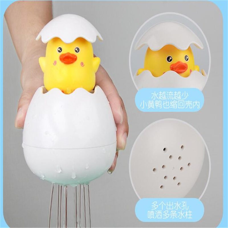 Детские игрушки для купания, милая утка, пингвин, яйцо, спрей для воды, спринклер, ванная комната, душ, плавание, водные игрушки, детский подарок 5