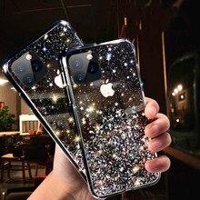 Прозрачный блестящий мягкий силиконовый защитный чехол для Apple iphone 11 для iphone 11 11pro защитный чехол для iphone 11 Pro Max