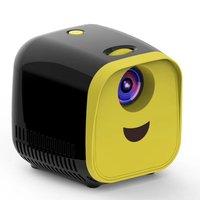 L1 Novo Mini Projetor WIFI Crianças USB Suporte Projetor Portátil Full HD 1080P Mini Projetor de Educação Precoce versão Preta Sistema de conferência     -