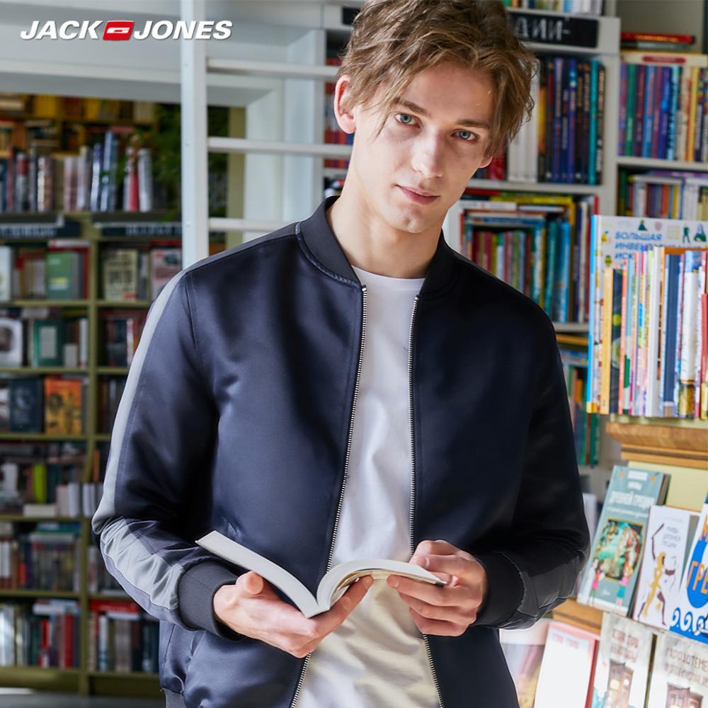 JackJones Men's Korean Casual Baseball Collar Contrasting Jacket streetwear| 219321510