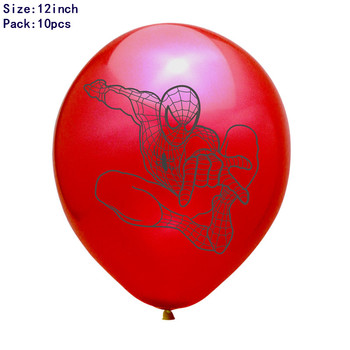 1set 3D Big Spider Supper Hero Man Mylar Foil Balloon Number Foil Balloons Birthday Party Decoration Supplies Children's Gifts 8
