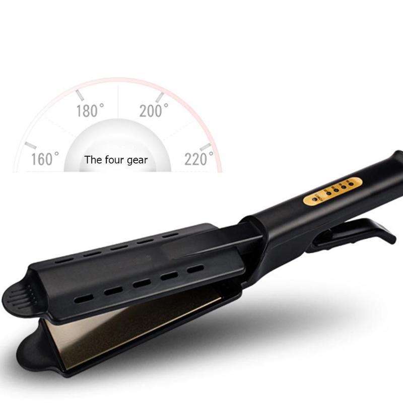 Alisador de cabelo quatro-engrenagem rápido warm-up ajuste