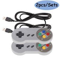 2pcs Controller USB Gamepad Super Game Controller SNES USB Gamepad classico Joystick di gioco per Raspberry Pi per PC giochi MAC