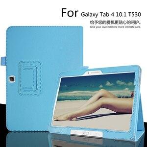 Image 1 - חכם אוטומטי שינה/שרות כיסוי מקרה עבור Samsung Galaxy Tab 4 10.1 T530 T531 T535 Tablet עור מפוצל כיסוי עבור tab 4 SM T530 Sm T531