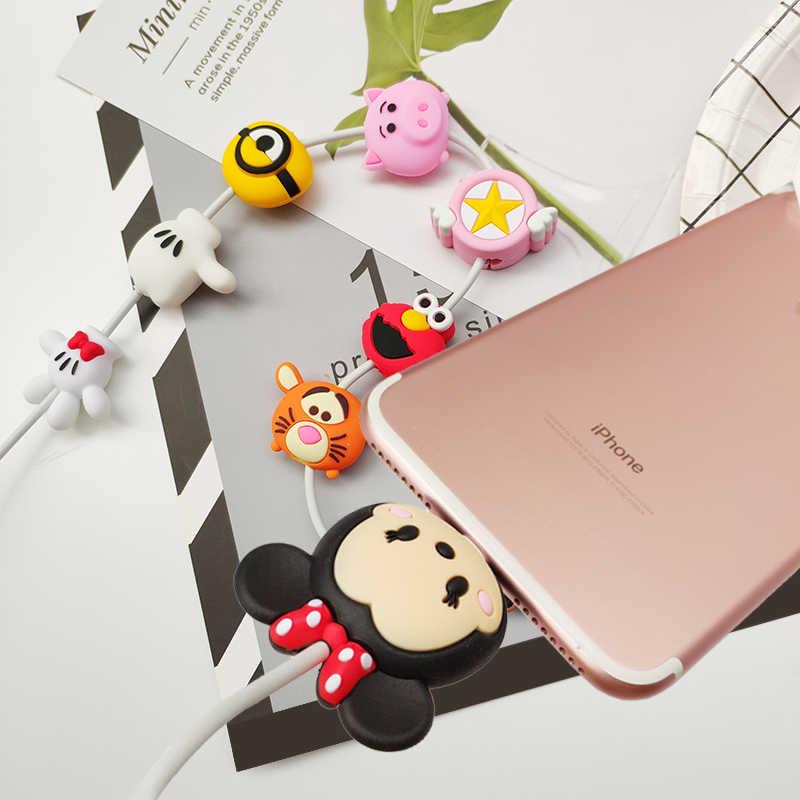 動物かわいい漫画電話回線コードプロテクター充電器ケーブルワイヤーのためにたくさんの iphone USB プロテクターデケーブル