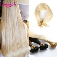 U tırnak ucu düz füzyon saç Keratin kapsül 40g 50g 100g brezilyalı İnsan Remy saç uzatma yüksek kaliteli doğal renk